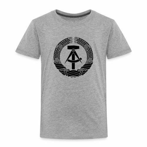 DDR Wappen (schwarz) - Kids' Premium T-Shirt