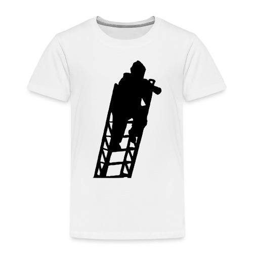 Un Sapeur Pompier sur échelle - T-shirt Premium Enfant