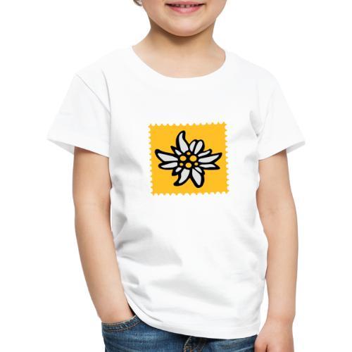 Briefmarke Edelweiss - Kinder Premium T-Shirt