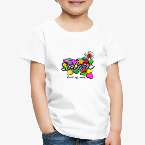 SOLRAC Hearts White - Camiseta premium niño