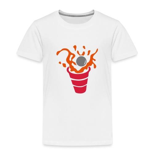 beer pong verre eclaboussure1 - T-shirt Premium Enfant
