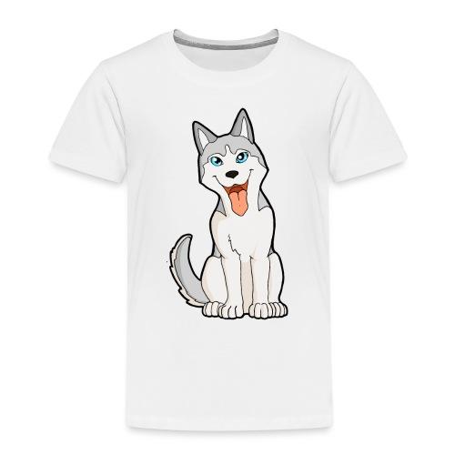 Husky grigio occhi azzurri - Maglietta Premium per bambini
