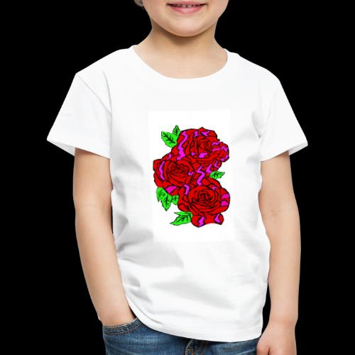 Roses with a kente design - Kids' Premium T-Shirt