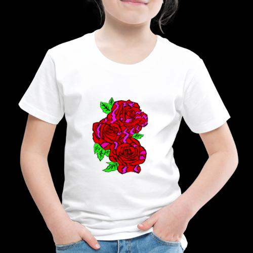 Roses with a kente design - Kids' Premium T-Shirt