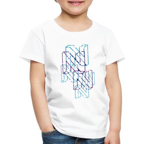 Neos logo back trashed without URL, 2-color - Kids' Premium T-Shirt
