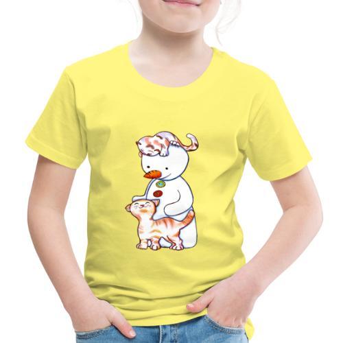 Deux petits chats et Jou le bonhomme de neige - T-shirt Premium Enfant