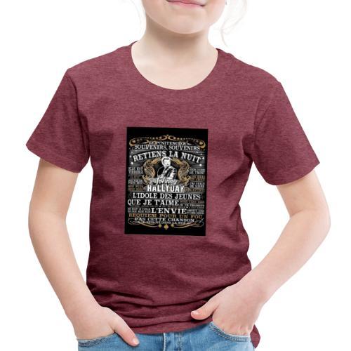 Johnny hallyday diamant peinture Superstar chanteu - T-shirt Premium Enfant