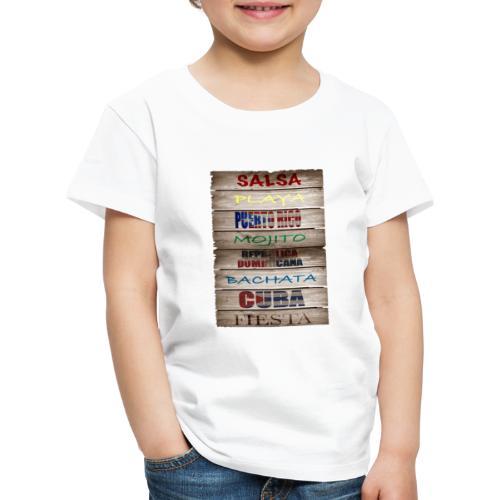 #SalsaEsLaCura panneau bois salsa - T-shirt Premium Enfant