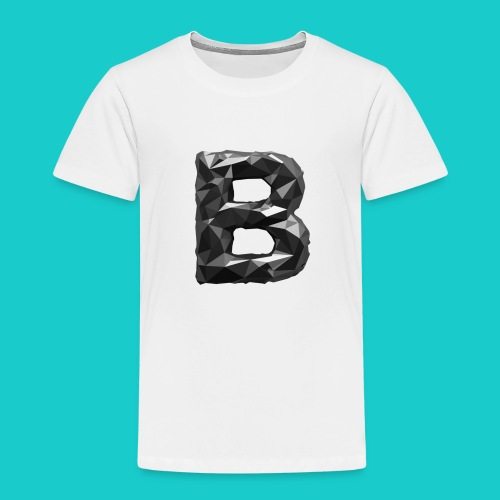 paper-melt-font-letter-B-1- - Kids' Premium T-Shirt