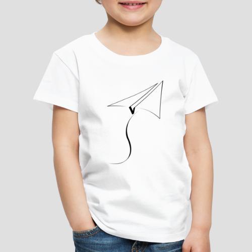 paper airplane Black - Kids' Premium T-Shirt