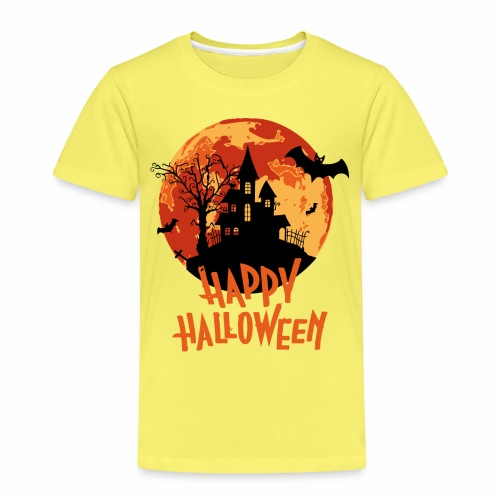 Bloodmoon Haunted House Halloween Design - Kinder Premium T-Shirt
