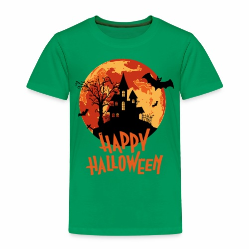 Bloodmoon Haunted House Halloween Design - Kinder Premium T-Shirt