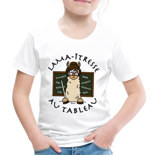 Lama-îtresse, tableau, maîtresse, cadeau, vacances - T-shirt Premium Enfant