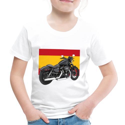 moto con la bandera de España - Camiseta premium niño