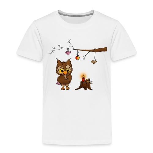 Eule feiert Weihnachten - Kinder Premium T-Shirt