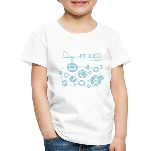 DigiPippi Danmark Blue - Børne premium T-shirt