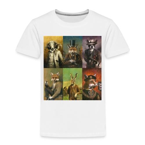 Vintage Animals In Clothes - Kids' Premium T-Shirt