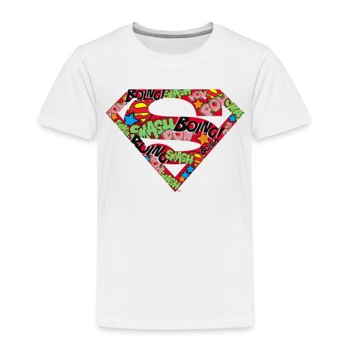 DC Comics Superman Logo Mit Lautmalerei - Kinder Premium T-Shirt