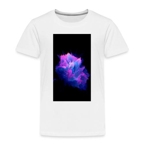 Purple and blue paint splat - Kids' Premium T-Shirt