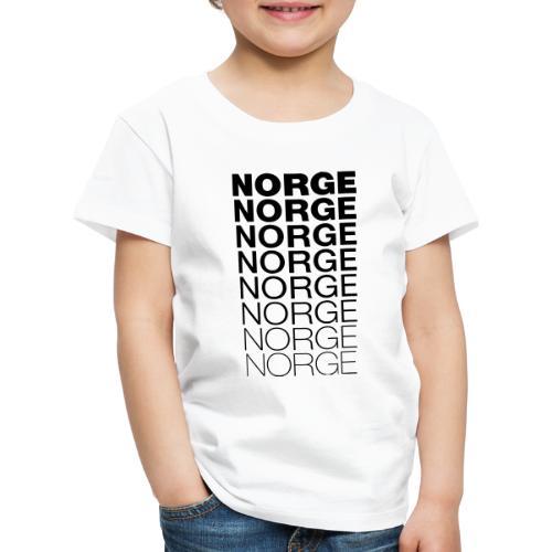 Norge Norge Norge Norge Norge Norge - Premium T-skjorte for barn
