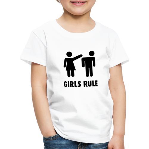 Girl rule - Premium T-skjorte for barn