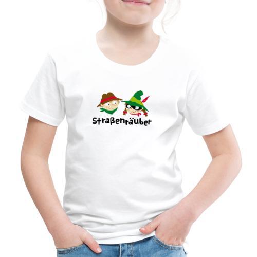 Straßenräuber Logo schwarz Vorder-u.Rückseite - Kinder Premium T-Shirt