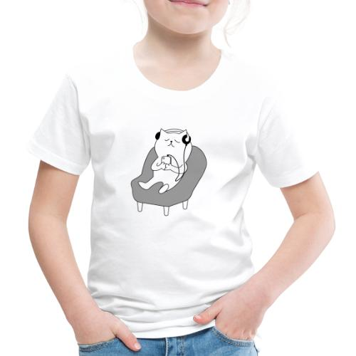 Funny lazy cat - Kinder Premium T-Shirt