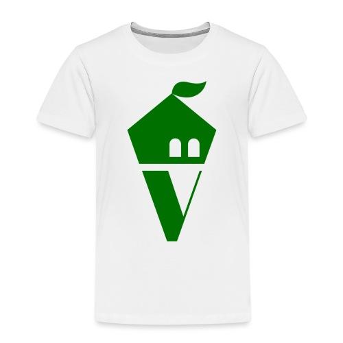 Villekula Logo in Grün auf Schwarz - Kinder Premium T-Shirt
