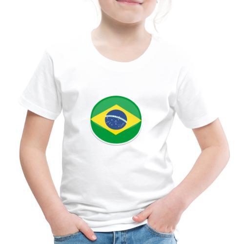 Bandeira do brasil Encontro - Kids' Premium T-Shirt