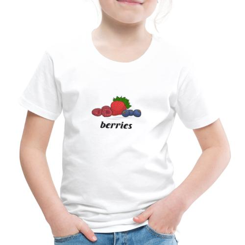 berries, fruit, blooms and berries, lingonberry - Kids' Premium T-Shirt