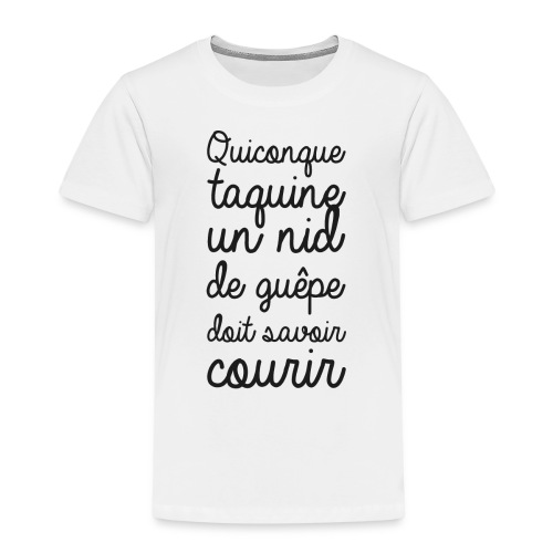 Humour noir et blanc Les guêpes - T-shirt Premium Enfant