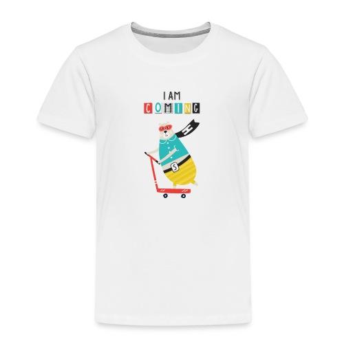 super héro ours sur patinette - T-shirt Premium Enfant