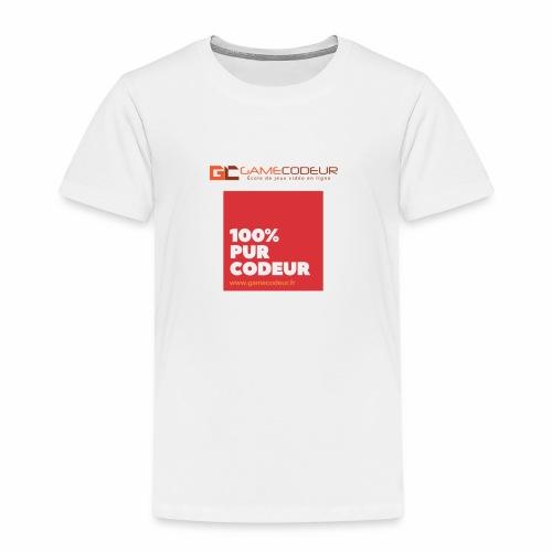100% PUR CODEUR - CARRE ROUGE - T-shirt Premium Enfant