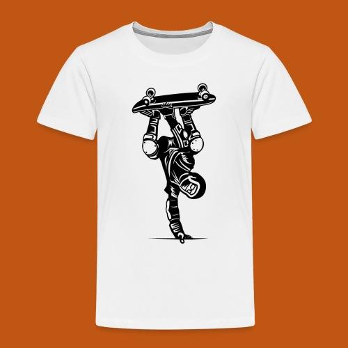 Skater / Skateboarder 02_schwarz - Kinder Premium T-Shirt