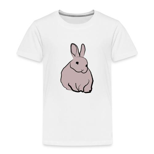 Piirros pupu - väri - Lasten premium t-paita