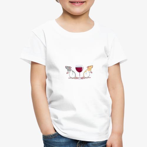 Yksin Viinillä Rottani - Lasten premium t-paita