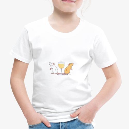 Yksin Viinillä Rottani II - Lasten premium t-paita