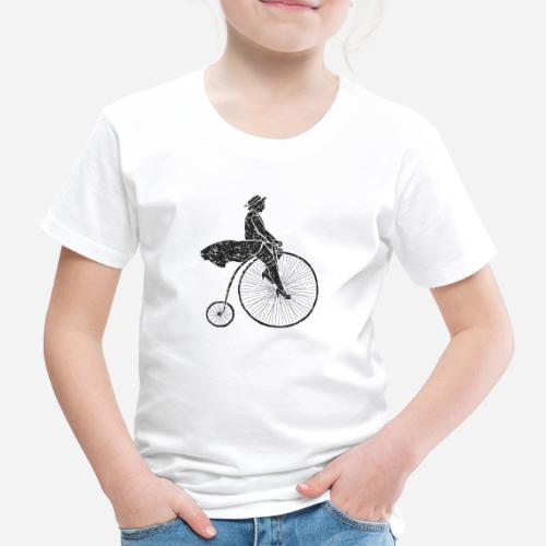 Frau auf Hochrad | Woman on a Penny-Farthing - Kinder Premium T-Shirt