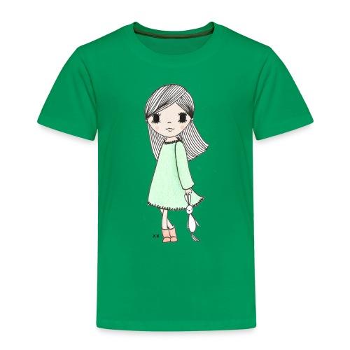 meisje met knuffel - Kinderen Premium T-shirt