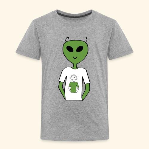 Alien human T shirt - Premium-T-shirt barn
