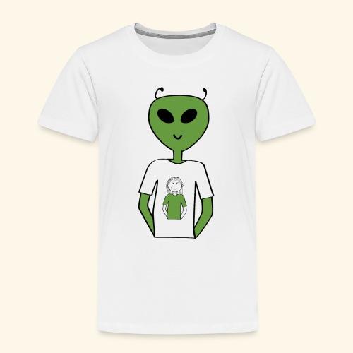 Alien human T-shirt T-shirt - Premium-T-shirt barn