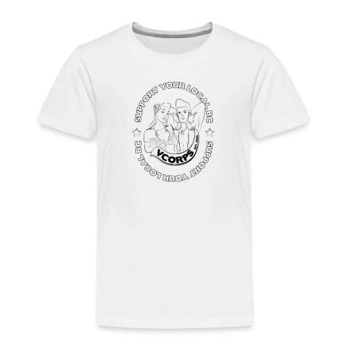 Support-LocalBC-White - Kids' Premium T-Shirt
