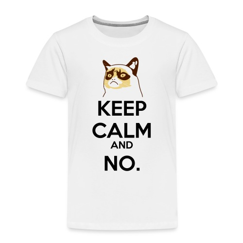 Grumpy Cat Keep Calm - Maglietta Premium per bambini