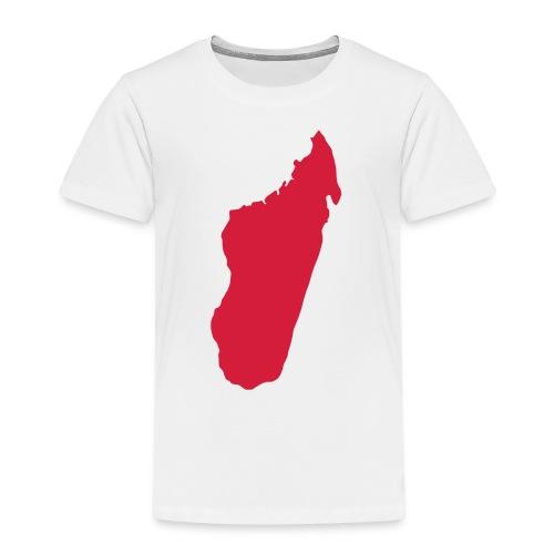 Madagascar Map - Kinder Premium T-Shirt