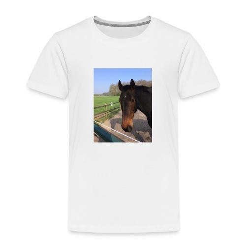 Met bruin paard bedrukt - Kinderen Premium T-shirt
