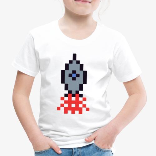 Pixel Rakete - Kinder Premium T-Shirt