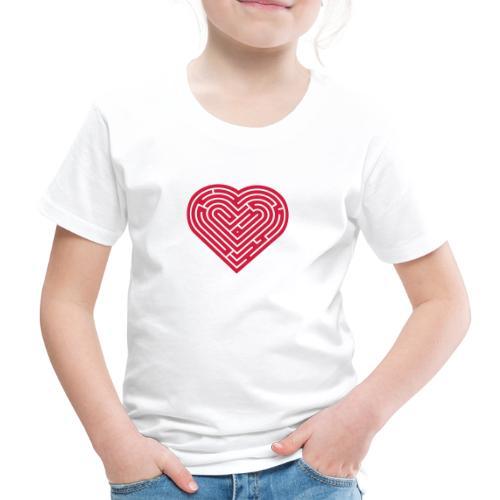 Labyrinth Heart - Kids' Premium T-Shirt