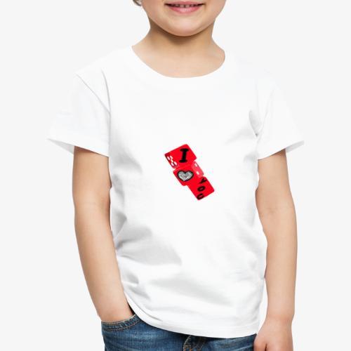 I LOVE YOU - Maglietta Premium per bambini