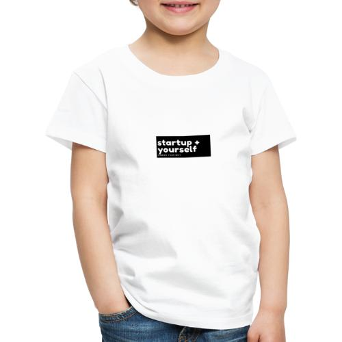 Blue and Red Fashion Logo 1 - Kinder Premium T-Shirt