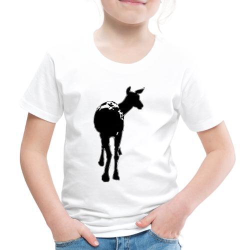 Reh deer Hirschkuh Silhouette - Kinder Premium T-Shirt